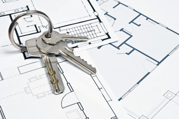 House plans and key