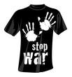 camiseta stop war
