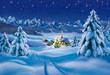 Leinwandbild Motiv Weihnachtslandschaft