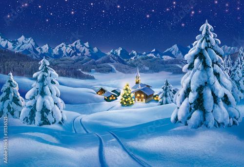Weihnachtslandschaft - 31136521