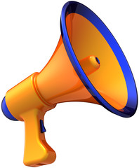 Orange megaphone announcement communication news