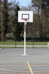 Basketball Hoop And Court
