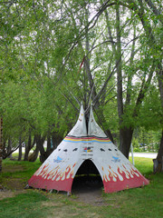 indian tepee in Banff National Park Alberta Canada