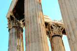 columns of the temple of Olympian Zeus in Athens (Greece)