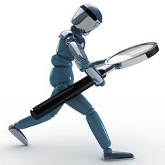 robot buscando