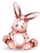 Coniglio Cartoon Allegria-Happy Little Rabbit-Vector