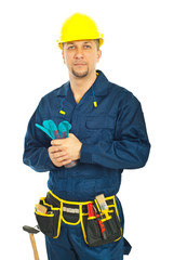 Handsome constructor worker