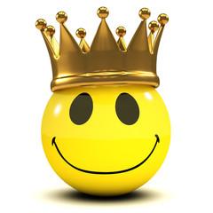 3d Royal smiley