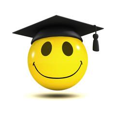 3d Graduate smiley