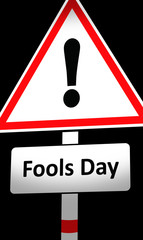 fools day sign