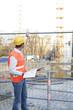 Bauleiter am Arbeitsplatz