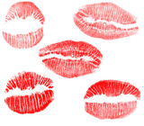 red lips imprints collection poster