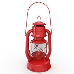 3d red petrol lamp