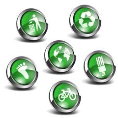 3d Green Icons Set 01