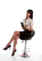 Businesswoman office worker stenographer
