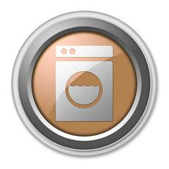 """Bronze 3D Style Button """"Laundromat"""""""