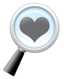 "Magnifying Glass Icon ""Dating / Online Dating"""