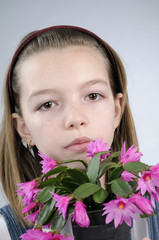 allergic girl to flowers