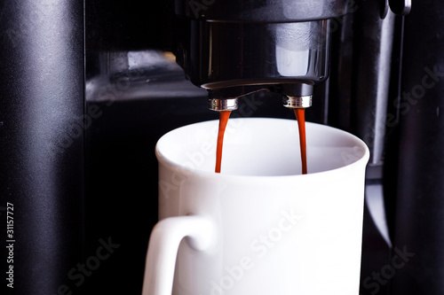 Kaffeemaschine in Betrieb 067