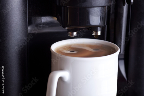 Kaffeemaschine in Betrieb 083