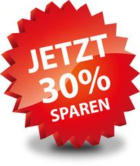 Button Rund Jetzt 30% Sparen