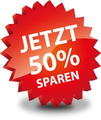 Button Rund Jetzt 50% Sparen