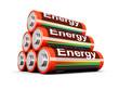 Batterien Pyramide