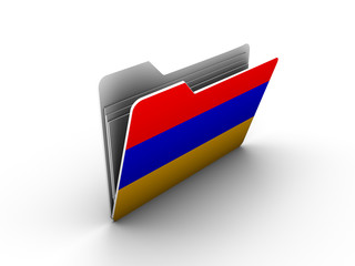 folder icon with flag of armenia