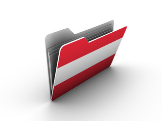 folder icon with flag of austria