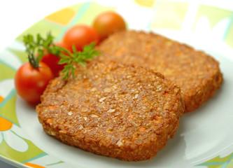 Hamburger di soia e verdure
