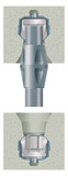 Concrete fixing bolt for joining concrete slabs poster