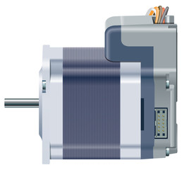 Electric motor, side view