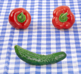 fun face from vegetables