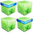 4 Green Cubes