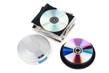 CD-player with CDs.