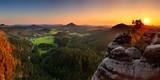 Fototapety Sunset in mountain Czech Switzerland