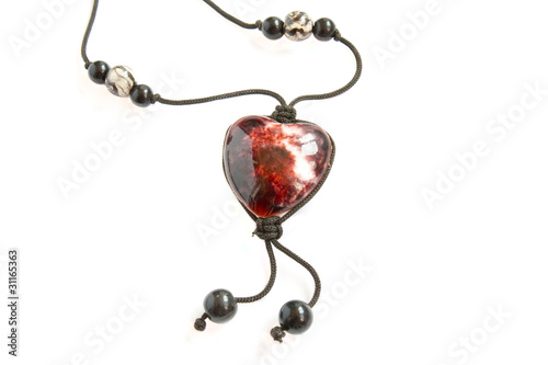 The onyx amulet, stone`s heart. From Ural
