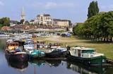 Auxerre scenic cityscape, Burgundy poster