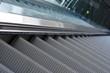 close up of escalator steps