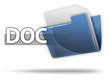 "3D Style Folder Icon ""DOC"""