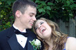 Sharing A Laugh Prom Couple