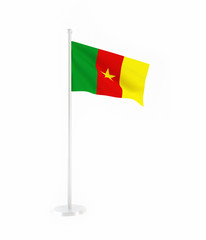3D flag of Cameroon