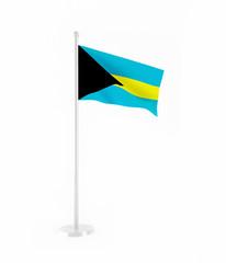 3D flag of Bahamas