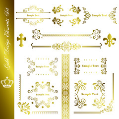 Gold elements set
