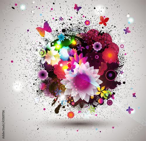 Fototapeten,floral,blume,garten,grafik