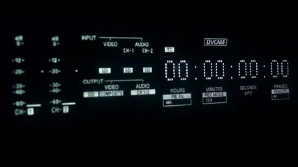 Timecode display and inserting tape