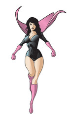 Female Flying Superhero