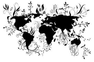 World Floral Map