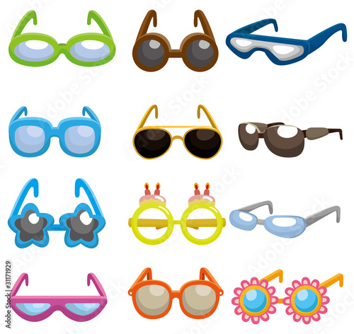 how to draw cartoon sunglasses. cartoon Sunglasses set icon