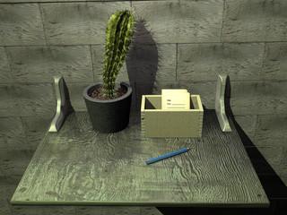 Полка с кактусом